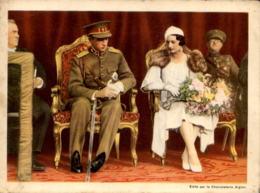 ALTES FOTO ROI LÉOPOLD ET LA PRINCESSE ASTRID AU CONCOURS HIPPIQUE SPA 1933 CHOCOLAT L'AIGLON 19cm X 14 Cm Photo König - Repro's
