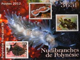 Polynésie Française 2012 - Bloc N° 38 - 3 Timbres NEUFS**- En Parfait Etat - Blokken & Velletjes