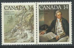 Canada Thème Polaire N° 661 / 62 XX 200ème Ann Du 3ème Voyage Du Capitaine Cook, Les 2 Vals Se Tenant Sans Charnière, TB - 1952-.... Règne D'Elizabeth II