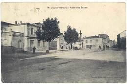 Cpa Mauguio - Place Des Ecoles - Mauguio