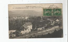 LA BUSSIERE SUR OUCHE (COTE D'OR) LA GARE COTE DE ST VICTOR ET PERSPECTIVE DE LA FORGE 1918 - Autres Communes