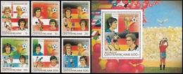 Soccer Football Central Africa Centrafricaine #926/31 + Bl 227 1982 World Cup Spain MNH  ** - 1982 – Spain