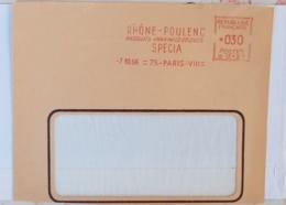 FRANCE Phamarcie, Medecine, Empreinte Mecanique (EMA) Rhone Poulenc Produits Pharmaceutiques (devant De Lettre) - Pharmacie