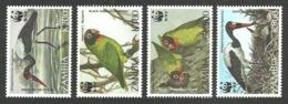 ZAMBIA 1996 BIRDS STORK LOVEBIRDS WWF ENDANGERED SPECIES SET MNH - Zambia (1965-...)
