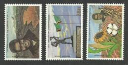 ZAMBIA 1984 INDEPENDENCE FLOWERS CATTLE SET MNH - Zambia (1965-...)