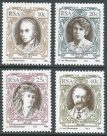 South Africa. 1984 South African English Authors. MNH Complete Set. SG 554-557 - South Africa (1961-...)