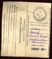 Coupon De Mandat Lettre Pour Le Destinataire De Chateaudun En 1939 - Prix Fixe- - Marcophilie (Lettres)
