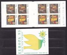 1995 EUROPA CEPT EUROPE Svezia Sweden 2 Libretti Europa Di 8v. MNH** 2 Booklets - Europa-CEPT