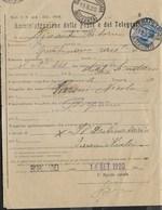 STORIA POSTALE REGNO - RICEVUTA DI RITORNO MOD. 44(EDIZ, 1912) DA SERRAPETRONA(MACERATA) 13.09.1920 PER BORGIANO - Storia Postale