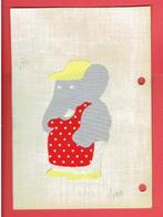 PERSONNAGE DE BABAR EN TISSU THERMOCOLLE ANNEES 1970 1980 DE BRUNHOFF - Altri