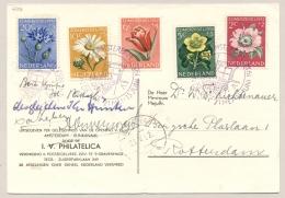 Nederland - 1952 - Zomerzegels Bloemen Op Speciale Kaart Opening Amsterdam - Rijn Kanaal / Flowers - 1949-1980 (Juliana)
