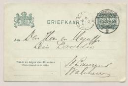 Nederland - 1906 - 2,5 Cent Briefkaart Van Amsterdam/2 Naar KR ST LAURENS - Postal History