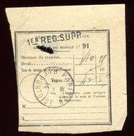 Récépissé De Mandat De Paris En 1914 - Prix Fixe - - Marcophilie (Lettres)