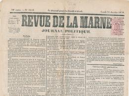 092/27 -  TP Journal No 9 Oblitération Typo S/ Journal Entier Revue De La Marine 31 Janvier 1870 - SUPERBE - Newspapers