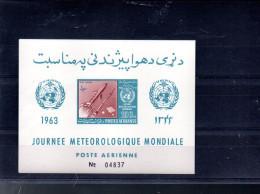 AFGHANISTAN MICHEL BLOC 41B** SUR LA JOURNEE METEOROLOGIQUE MONDIALE - Afghanistan
