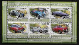 MOZAMBIQUE  Feuillet ( 2009 )  * * Voitures Citroen Jaguar Chrysler Ford Mercedes Dodge - Voitures