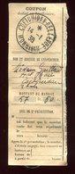 Récépissé De Mandat De Coetquidan En 1938 - Prix Fixe - - Marcophilie (Lettres)