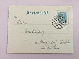 K5 Österreich Austria Ganzsache Stationery Entier Postal K 67 Von Riezlern Nach Striegendorf - Stamped Stationery
