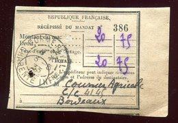 Récépissé De Mandat De Corme Royale En 1933 - Prix Fixe - - Marcophilie (Lettres)