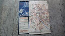 Plan Dépliant Métro Plan Offert Par La Compagnie Du Chemin De Fer Métropolitain De Paris Avant 1939 - Europe