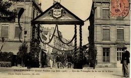 52 CHAUMONT - Grand Pardon (14 Juin 1906) - Arc-de-Triomphe De La Rue De La Gare - Chaumont