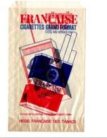 SACHET D'EMBALLAGE CIGARETTES FRANCAISE ET ALLUMETTES SALON - Tabac (objets Liés)