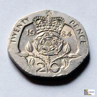 Gran Bretaña - 20 Pence - 1984 - 1971-… : Monedas Decimales