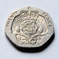 Gran Bretaña - 20 Pence - 1987 - 1971-… : Monedas Decimales