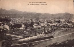 Saint Girons  Cpa Ariege  09 Gare Chemin De Fer Train - Saint Girons