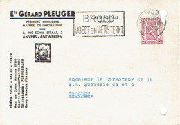 Postkaart Publicitaire ANTWERPEN 1939 - Ets Gérard PLEUGER - Produits Chimiques & Matériel De Laboratoire - Antwerpen