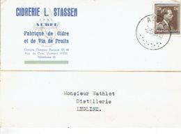 Carte Publicitaire AUBEL 1953 - CIDRERIE L. STASSEN - Fabrique De Cidre Et De Vin De Fruits - Aubel