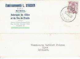 Carte Publicitaire AUBEL 1950 - ETABLISSEMENTS L. STASSEN - Fabrique De Cidre Et De Vin De Fruits - Aubel