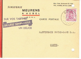 Carte Publicitaire AUBEL 1948  - MEURENS - Siroperie - Aubel