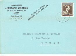 Carte Publicitaire AUBEL 1953 - ALPHONSE WILLEMS - Imprimerie - Aubel