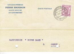 Carte Publicitaire AWANS-BIERSET - PIERRE BROUHON - Chaudronneries - Awans