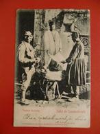 CPA SALUT DE CONSTANTINOPLE 1905 VENDEUR DE FRUITS - Türkei