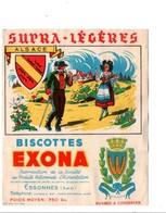 BUVARD BISCOTTES EXONA - L'ALSACE - Blotters