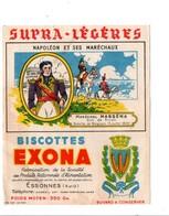 BUVARD BISCOTTES EXONA - NAPOLEON ET SES MARECHAUX - MASSENA - Blotters