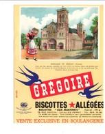 BUVARD BISCOTTES GREGOIRE - BASILIQUE DE VEZELAY YONNE - Blotters