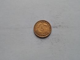 1925 D - Reichspfennig / KM 39 ( Uncleaned Coin / For Grade, Please See Photo ) !! - 5 Rentenpfennig & 5 Reichspfennig