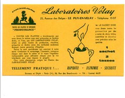 BUVARD LABORATOIRES VELAY HAUTE LOIRE - Blotters