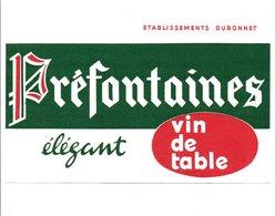 BUVARD VIIN DE TABLE PREFONTAINES - Blotters