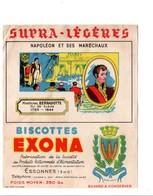BUVARD BISCOTTES EXONA - NAPOLEON ET SES MARECHAUX - BERNADOTTE - Blotters