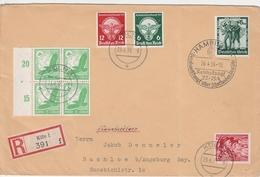 Allemagne Lettre Recommandée Köln 1938 - Allemagne