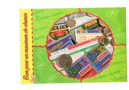 Cpm - BON Pour Un Maximum De CHANCE - JEU BLACK JACK Loto Sportif BANCO Millionnaire Pièce De Monnaie Argent - Cartes Postales