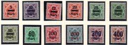 Württemberg Dienstmarken Ziffer(n) In Raute Mit Neuem Aufdruck Mi 159/70 5-400 M, Ungebraucht/postfrisch - Wuerttemberg