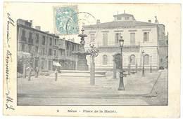 Cpa Mèze - Place De La Mairie - Mèze