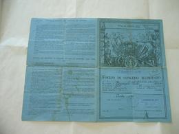 WW1 WW2 FOGLIO DI CONGEDO ILLIMITATO 4°REGG.ALPINI VARESE DECORATO IN AOI. 1936 - Diplomi E Pagelle