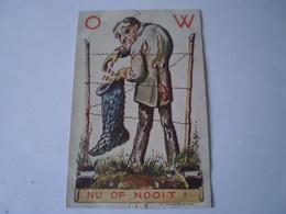 War // Guerre // Caricature - Patriotic // NL /Th. Molkenboer Illustrator / Nu Of Nooit 19?? Punaissegaatjes - Pinholes - Oorlog 1939-45