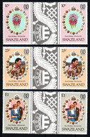 SWAZILAND  Mariage Prince Charles Lady Diana  Neufs Sans Charnière N° Yv 372 / 374 Avec Pont - Swaziland (1968-...)